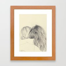 hair Framed Art Print