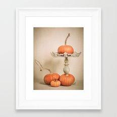Autumn Pumpkin Framed Art Print