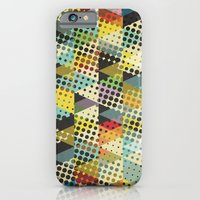 iPhone Cases featuring Dots and Triangles II by Metron