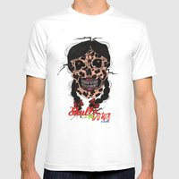Skull-N-Bows Mens Fitted Tee White SMALL