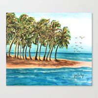 Private Island Painting Canvas Print