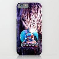 iPhone Cases featuring Buddha Tree by Jennie Hicks - Dharma Eco Art