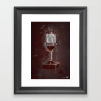 DARK MICROPHONE Framed Art Print