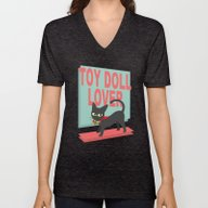 Unisex V-Neck featuring Toy Doll Lover by BATKEI