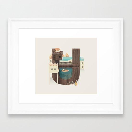 Resort Type - Letter U Framed Art Print