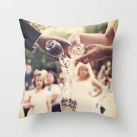 Combined Lives Throw Pillow