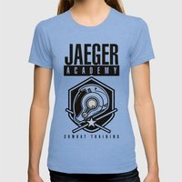 Jaeger Academy Womens Fitted Tee Tri-Blue SMALL
