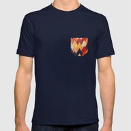 Eccentric Mountains Mens Fitted Tee Navy SMALL