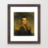 Matt Damon - Replaceface Framed Art Print