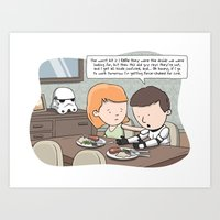 Force-Choked Art Print