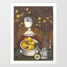 Portrait of an Apple Orchard Art Print