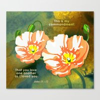 Love One Another Canvas Print