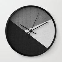 Concrete & Triangles II Wall Clock