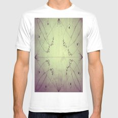 Map SMALL White Mens Fitted Tee