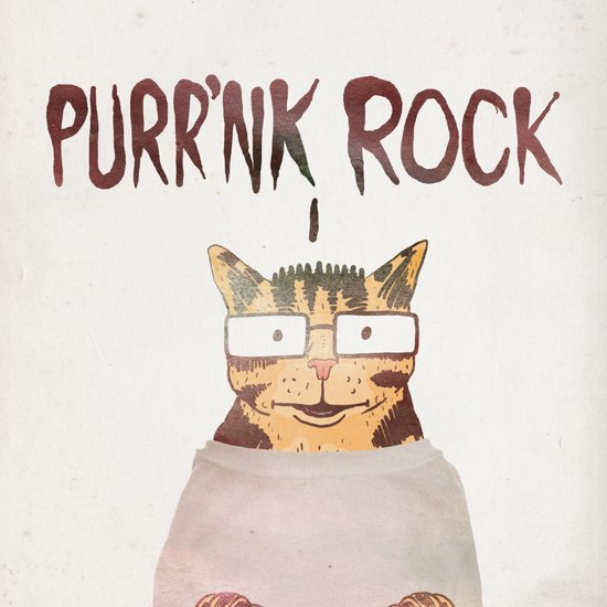 PURR'NK ROCK Art Print