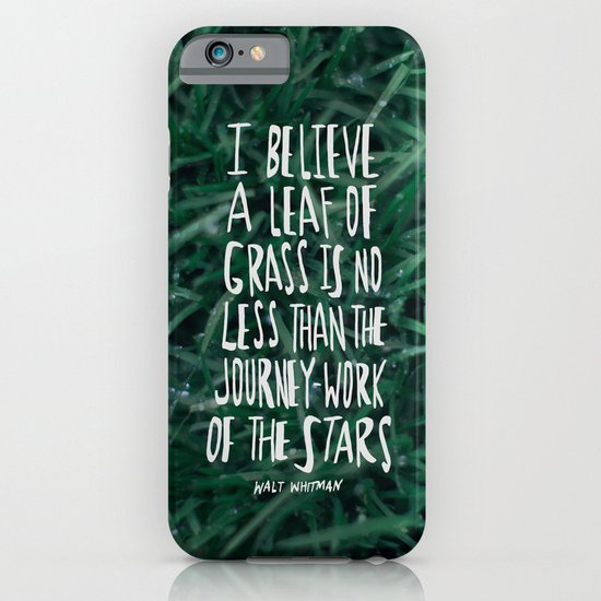Leaf of Grass iPhone & iPod Case