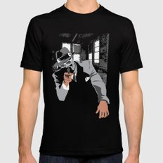 The Gangster Mens Fitted Tee Black SMALL