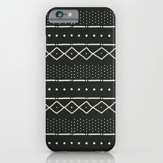 Mudcloth in bone on black iPhone & iPod Case