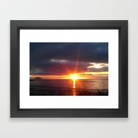 let there be light. Framed Art Print