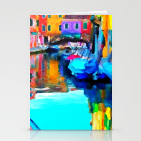 Colors In Venice - Painting Style Stationery Card
