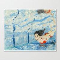 Apnea Canvas Print