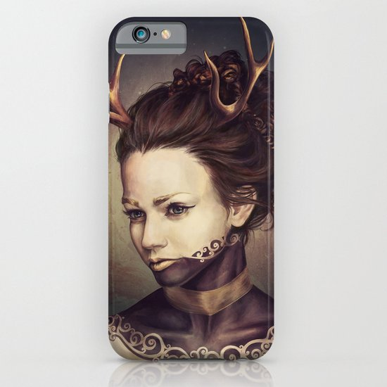 Portrait of a Deer iPhone & iPod Case