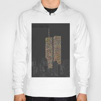 Hoody featuring 2606 Souls compose The Twin Towers by Salmanorguk