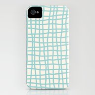 Blue Scribbles 06 iPhone (4, 4s) Slim Case