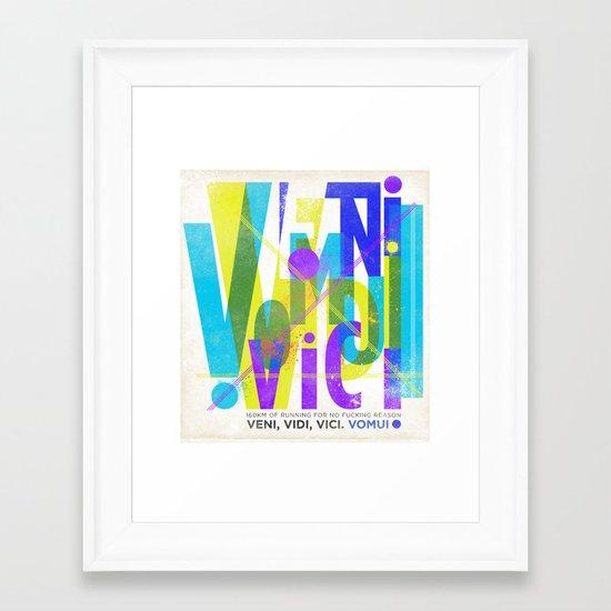 Veni, Vidi, Vici. Vomui. #2 Framed Art Print