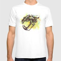 Skull 3 Mens Fitted Tee White SMALL