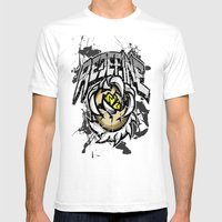 Redefine Genetics  Mens Fitted Tee White SMALL