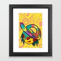 The Dopest Robot Logo Framed Art Print