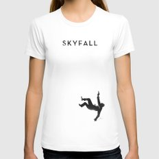 Skyfall Womens Fitted Tee White SMALL