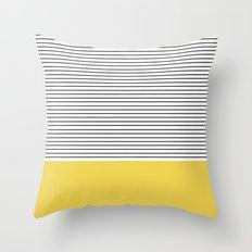 MINIMAL Green Stripes Throw Pillow