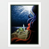 Pixel Art Series 2 : Fig… Art Print