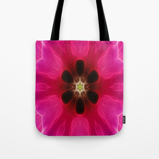 Pink Flower Abstract Tote Bag