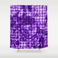 Purple Satin Weave Effec… Shower Curtain