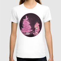 Intercosmic Christmas in Pink Womens Fitted Tee White SMALL