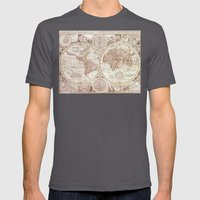 An Accurate Map Mens Fitted Tee Asphalt SMALL