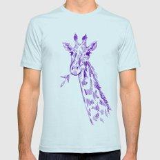 giraffe Mens Fitted Tee Light Blue SMALL
