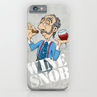 iPhone & iPod Case featuring Wine Snob by Peter Donahue