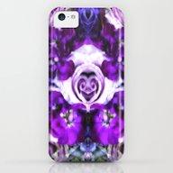 Purple Pink Flowers iPhone 5c Slim Case