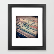 Vinyl Shopping Framed Art Print