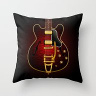 Electric Guitar ES 335 F… Throw Pillow