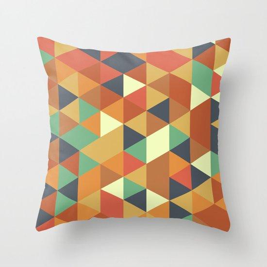 Triangle Pattern II Throw Pillow