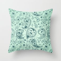 Paisley Ghosts Throw Pillow
