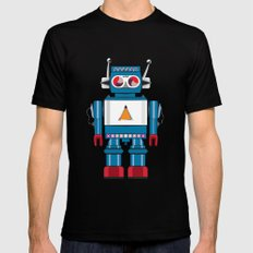 Robot SteveO SMALL Mens Fitted Tee Black