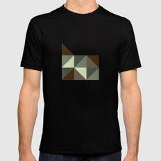 Geometric Oregon Mens Fitted Tee Black SMALL
