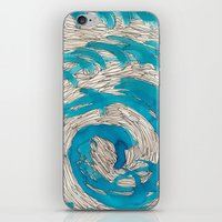 Blue spiral iPhone & iPod Skin