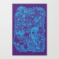 All Day Doodle Canvas Print